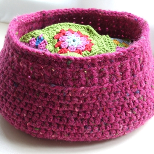 Free Pattern Crochet Basket : CROCHETED BASKET PATTERN FREE PATTERNS