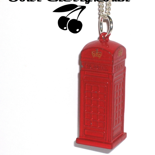 Sour Cherry - Phone Box Necklace