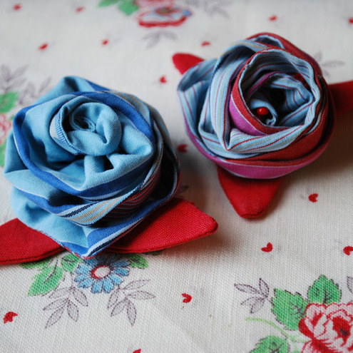 Vintage Fabric Flower, Corsage, Brooch, Hair accessory by Cool Mummy