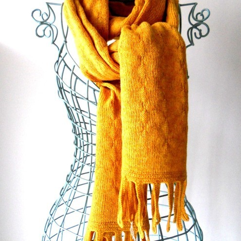 Scottish handmade wool scarf