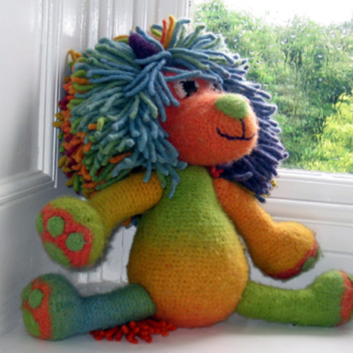 PDF Crochet pattern felted 'Marlion' amigurumi toy