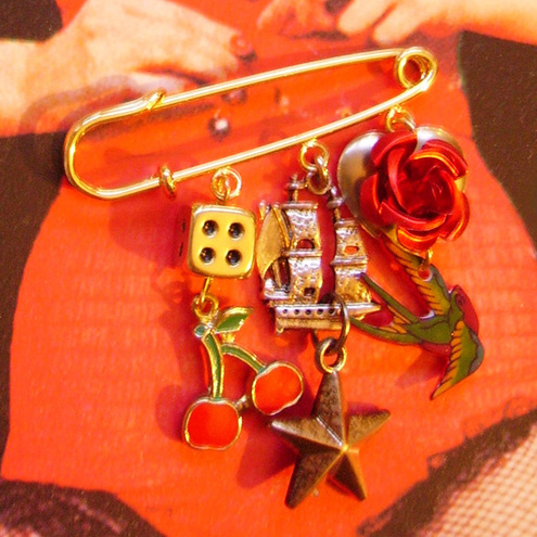"Folksy :: Buy ""traditional tattoo kilt pin brooch"""
