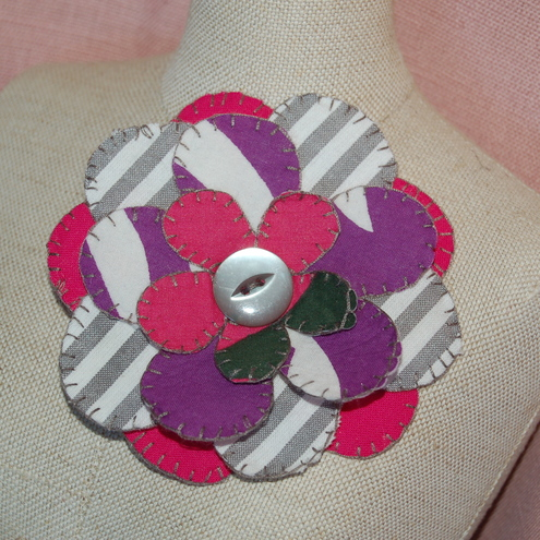 Funky Fabric Corsage by Umbrella Tree