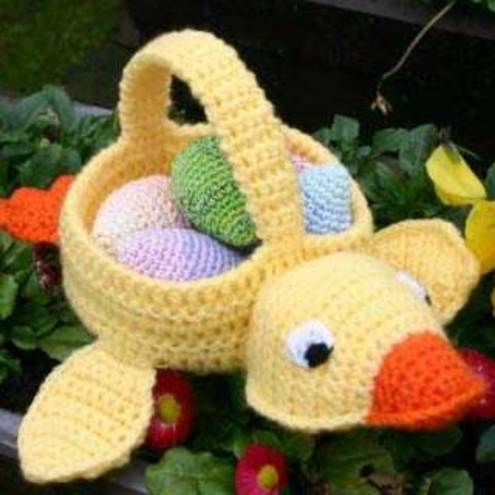 BASKET CROCHET EASTER FREE PATTERN Crochet Patterns