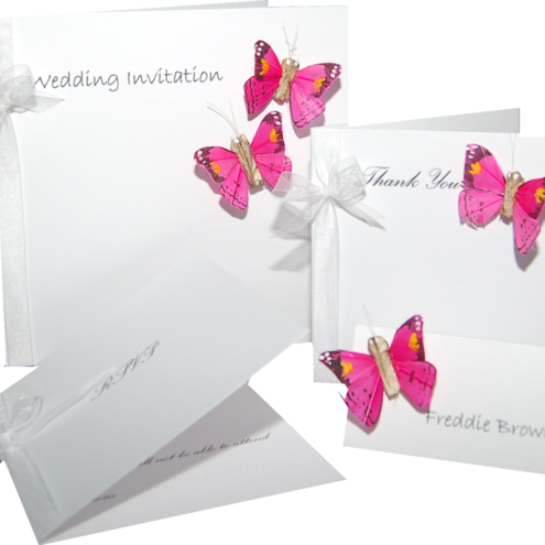 Sample Pack - includes wedding invitation, place card & RSVP card