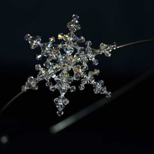 Goddess Bridal Accessories Snowflake side tiara