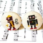 Retro Wind-up Robot Cufflinks, by FluffsStuffs