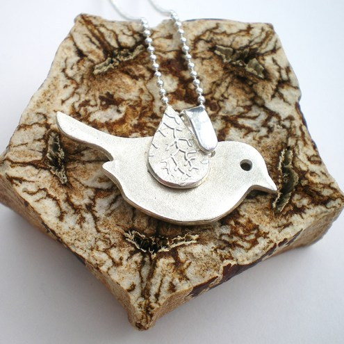 Tiny Tweet Silver Bird