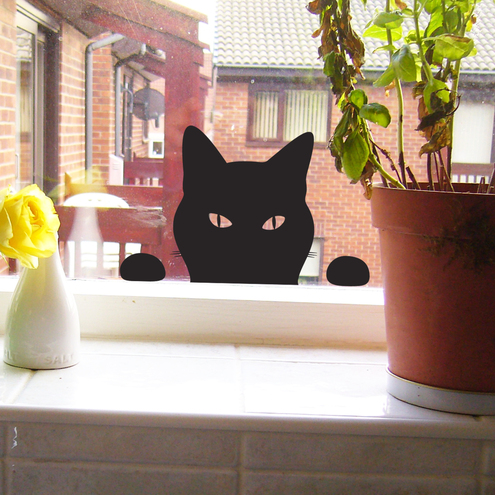 ODE by Jolyon Yates, cat window/wall sticker £14.95