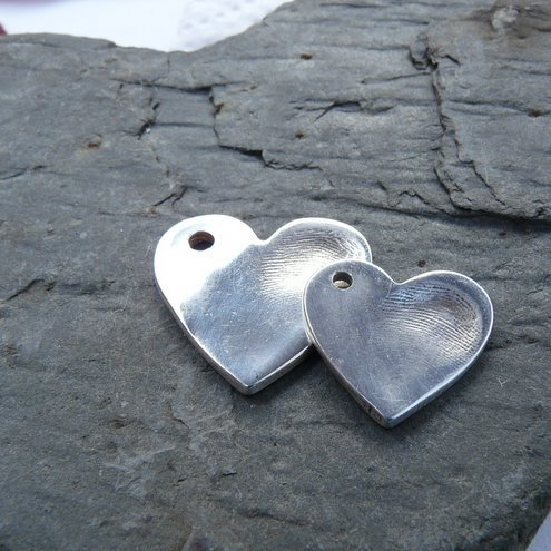 Personalised fingerprint jewellery - single heart pendant