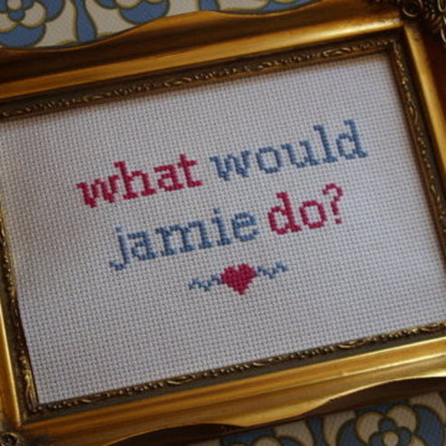 What Would Jamie Do? Cross Stitch Sampler