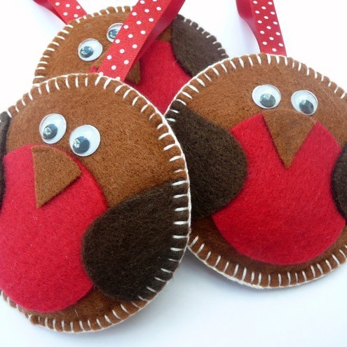 Devonly Crafts - Rockin Robin Felt Christmas Decoration