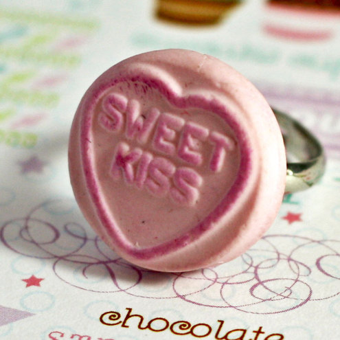 love heart sweets i love you. Love Heart Candy Ring - Sweet