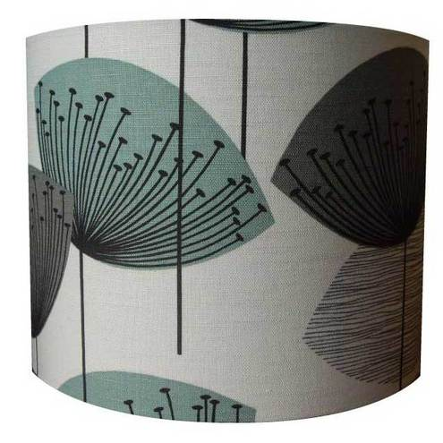 Dandelion clocks sanderson retro fabric lampshade