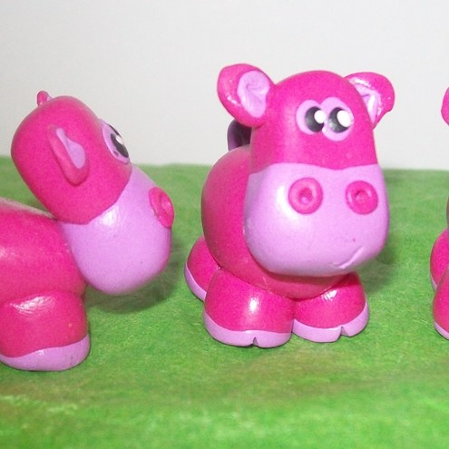 Laura's Love - Pink Hippo Desk Buddy