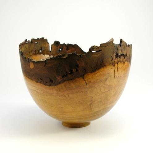 Natural edge Cherry Bowl