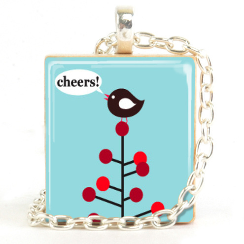Funky Pendants - Cheers Robin Pendant Necklace