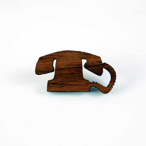 Lost At Sea - Mini Telephone Silhouette Pin