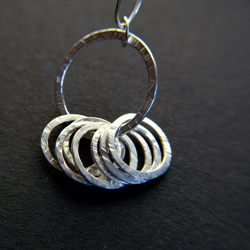 Sterling Silver Circles of Life Pendant
