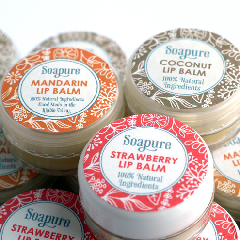 Soapure - Natural Strawberry Lip   Balm