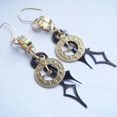 Steampunk Clockhands Earrings £7.99 - Mollymagpie