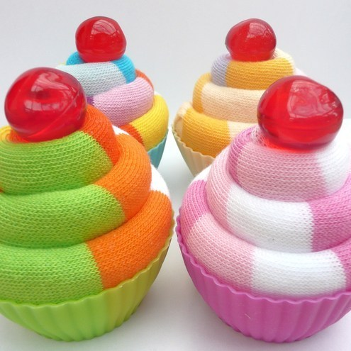 Devonly Crafts - Sock Cupcake