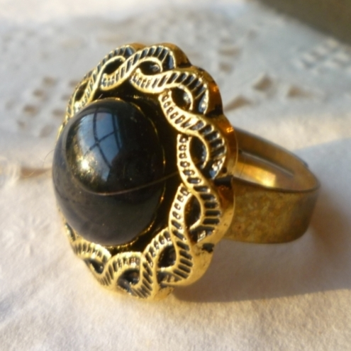 may i borrow your black gold cocktail ring