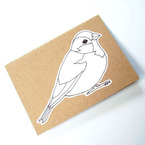 Colour-in sparrow card from Kate Broughton
