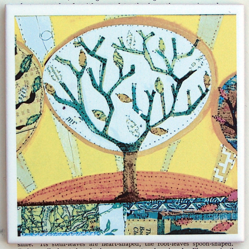 Tree of Life coaster tile