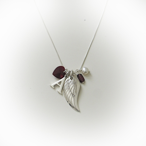 January personalised birthstone necklace by Angelstone Jewellery