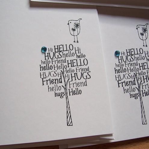 tree hug notelet cards