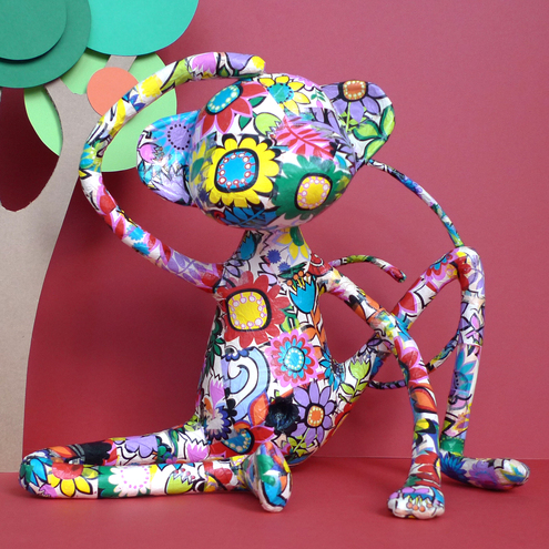 Polkadot Sundays - Jemima the paper monkey