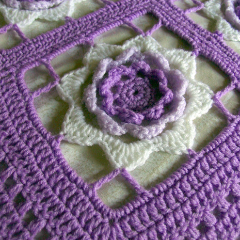 Irish Rose Lace Throw Quilt Afghan Crochet Pattern EASY