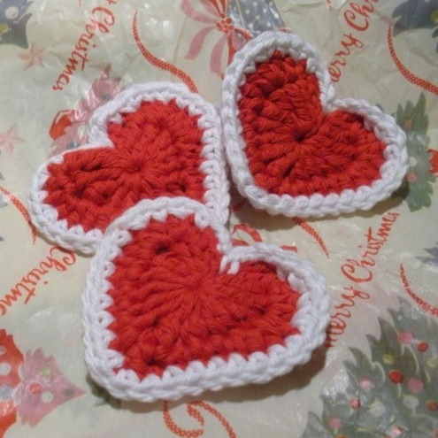 Redheart Free Crochet Patterns : Crochet Free Heart Pattern Red Design Patterns Catalog