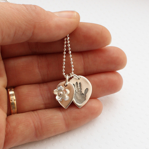 personalised handprint necklace