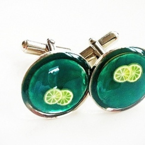 CAMBERWELL BEAUTY - Lemon or Lime   Sir? Resin Cufflinks