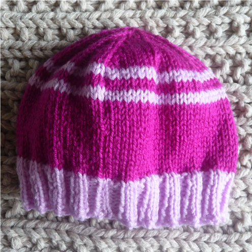 Claire Sibley - Pink Baby Hat