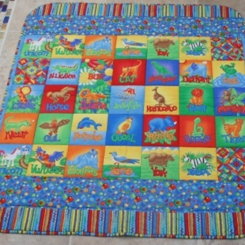 Folksy Buy Quot Vibrant Alphabet Quilted Baby Play Mat