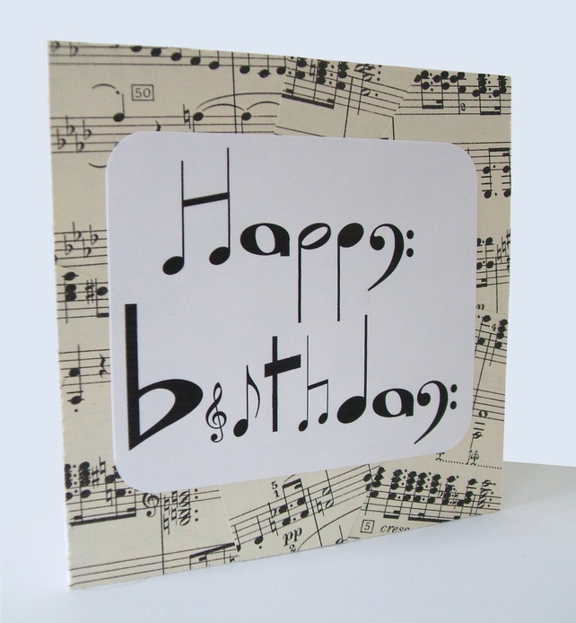 Chlef Musical Notes Birthday Card By Say It